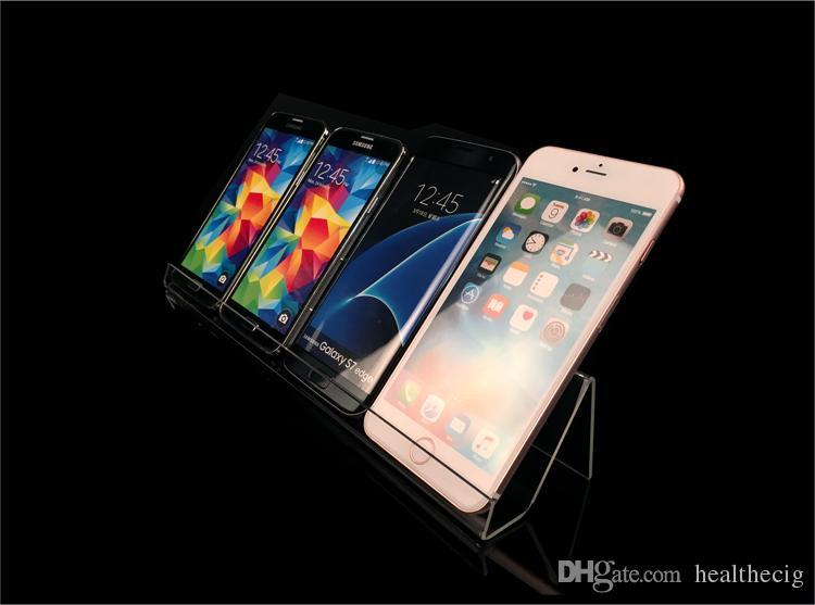 Long Shelf Acrylic Display rack holder Mobile Cell Phone Holder Display Stand Universal Holder For Mobile Phones