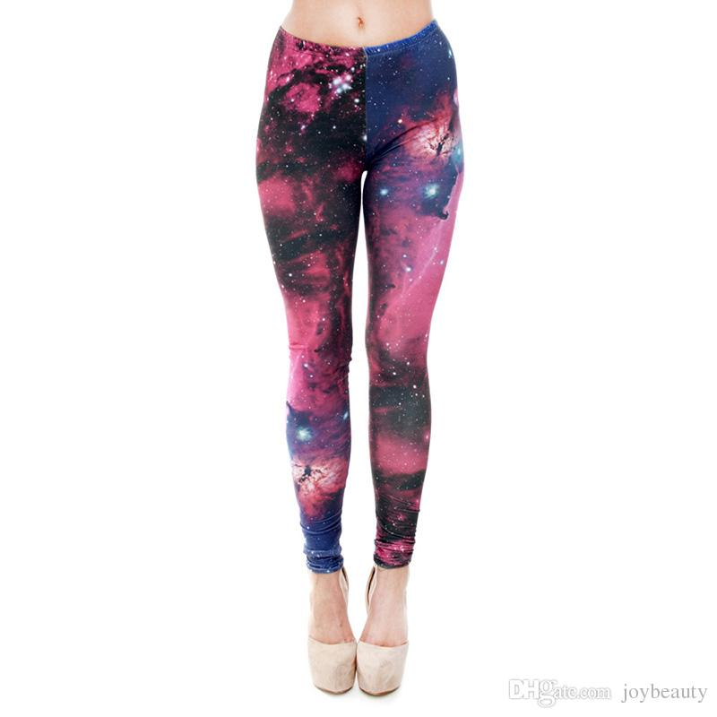 67457d4ffb06a 2019 Women Leggings Multi Color Galaxy 3D Graphic Print Girl Skinny  Stretchy Yoga Wear Pants Gym Fitness Pencil Fit Lady Capris Trousers J31174  From ...