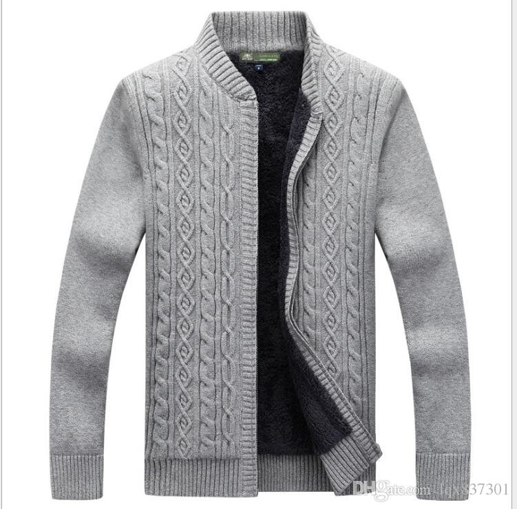 2018 Sale Winter Mens Sweaters Cotton Knitted Cardigan Knitting ...