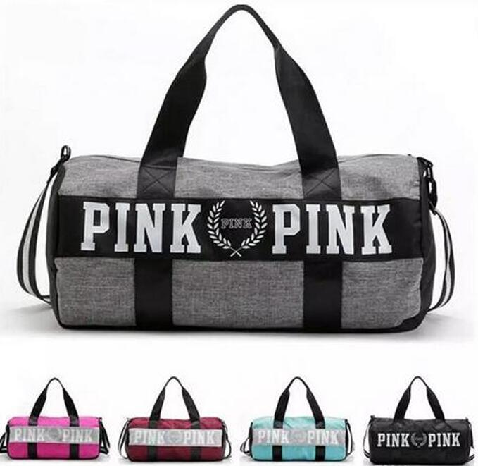 cbecfb97a77d Sport Bags For Women Luxury Handbags Pink Letter Large Capacity Travel  Duffle Striped Waterproof Beach Bag On Shoulder Sports Bags Gym Bags For  Men From ...