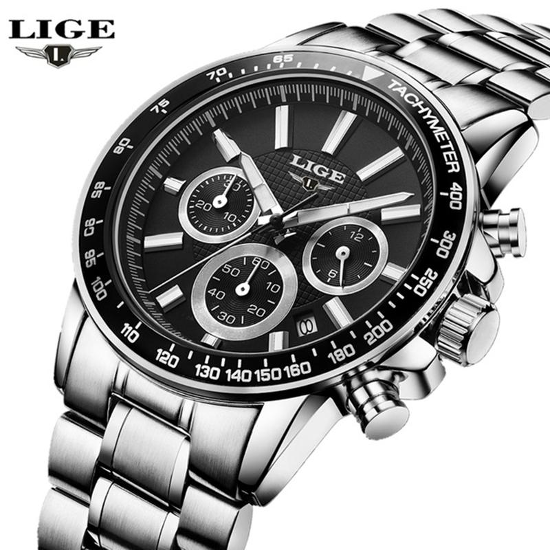 Reloj Hombre 2017 LIGE Fashion Chronograph Sport Mens Watches Top Brand  Luxury Quartz Watch Clock Man Relogio Masculino Wrist Watch Gold Watches  From ... 607a80fa73eb