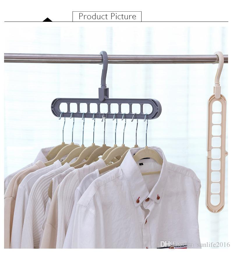 2018 Multi Port Support Circle Clothes Hanger Clothes Drying Rack  Multifunction Plastic Scarf Clothes Hangers Hangers Storage Racks From  Sunlife2016, ...