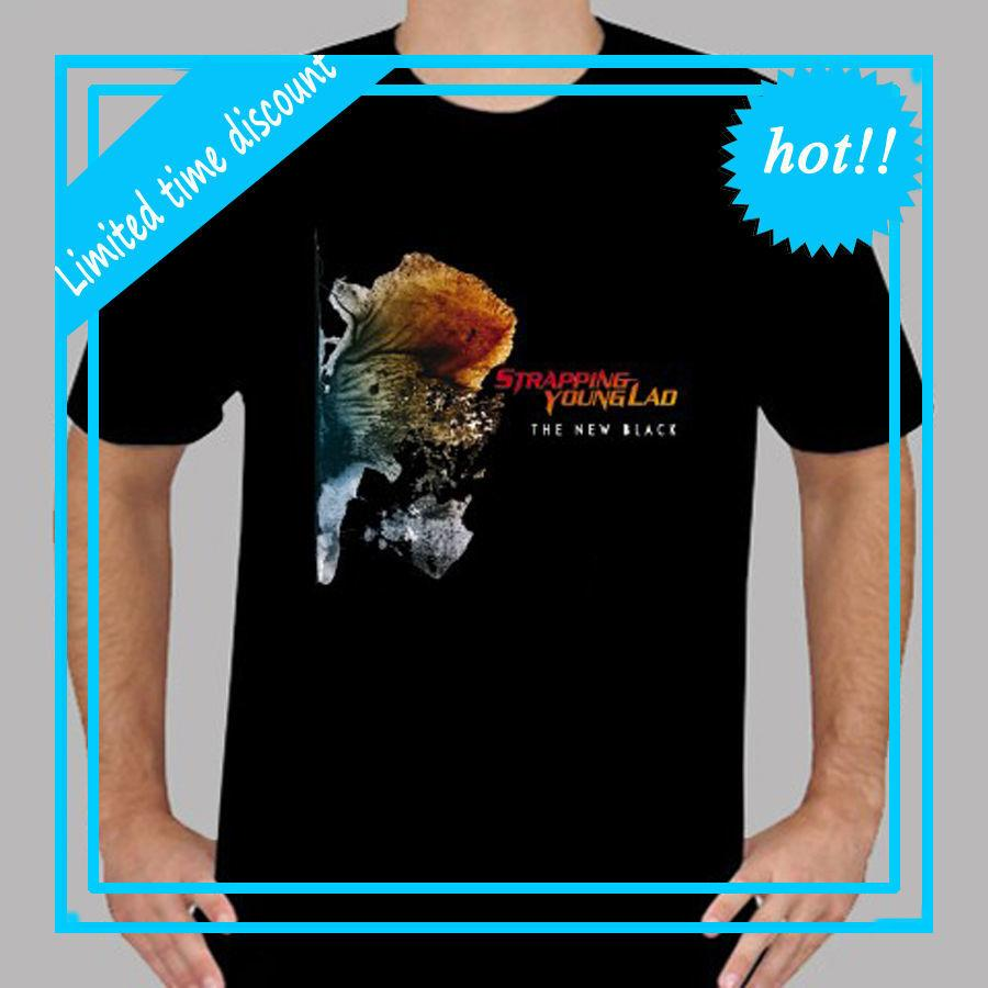 Strapping Young Lad The New Black Rock Band Mens Black T Shirt