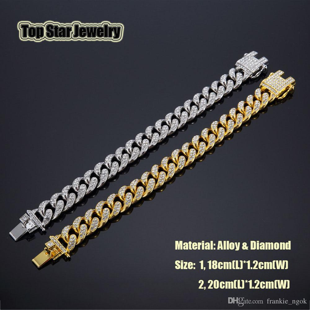2018 New 14K Gold Plated MIAMI CUBAN LINK Full Cubic Zirconia ... 10f91616a97b