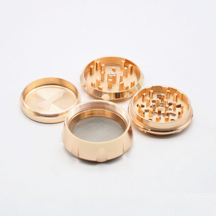 es Nuevo Diseño lado cóncavo Molinillos de hierba 63 * 45mm 4 partes de aleación de zinc metal Tabaco Grinder OEM acepta