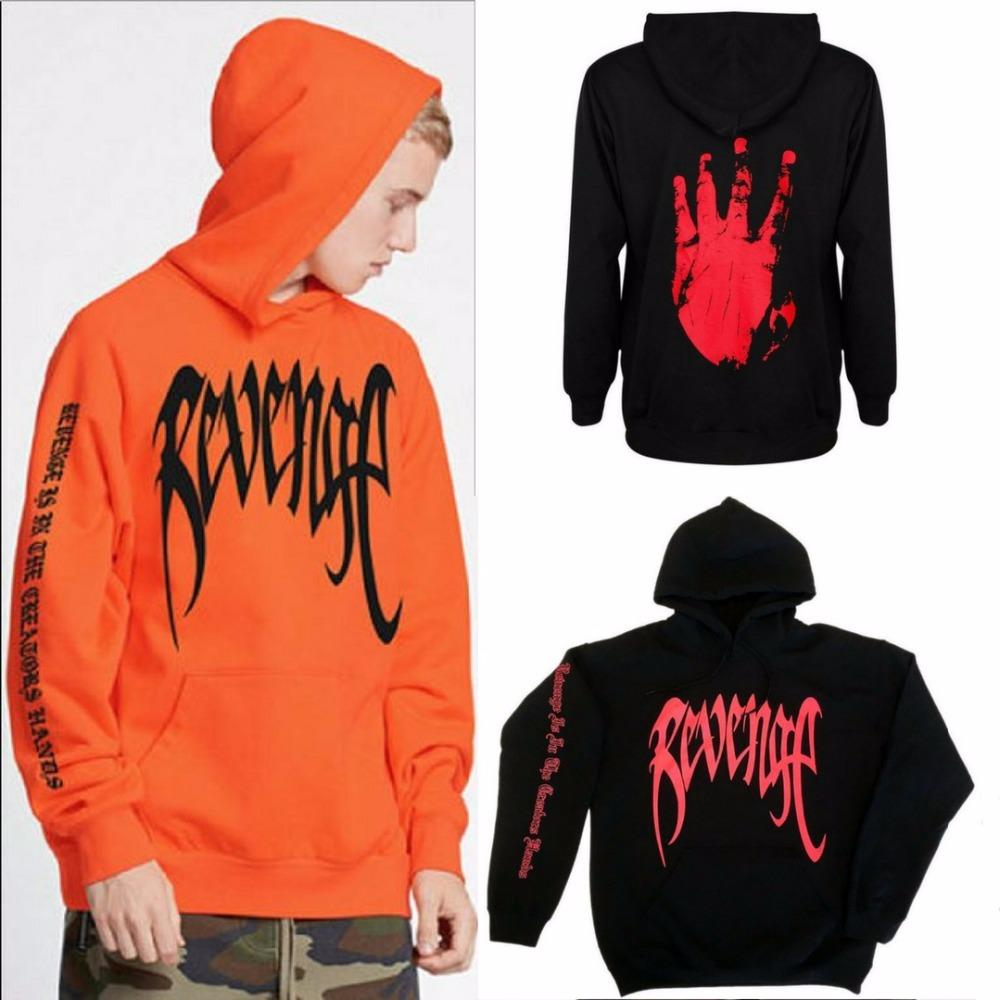 Revenge Kill Hoodie Mens Orange and Black Sweatshirt XXXTentacion Bad Vibes  Forever Unisex Cool Streetwear Fashion Hoodies