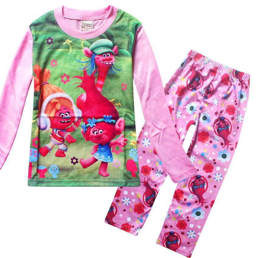 f35f70ae0 2017 New Years Pyjamas Kids Trolls Sleepwear Christmas Children S ...