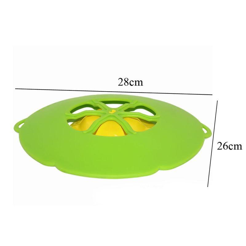 Nova Chegada Utensílios De Cozinha Tampa De Silicone Rolha De Derramamento Pote Cobertura de 28.5 cm de Diâmetro Panelas de Cozinha Potenciômetro Utensílio