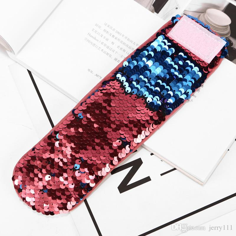 Magic Sequin Mermaid Bracelet Sequin Wristband bangle Gril DIY Glitter Mermaid Sequin Bracelet Wristband Cuff LC662