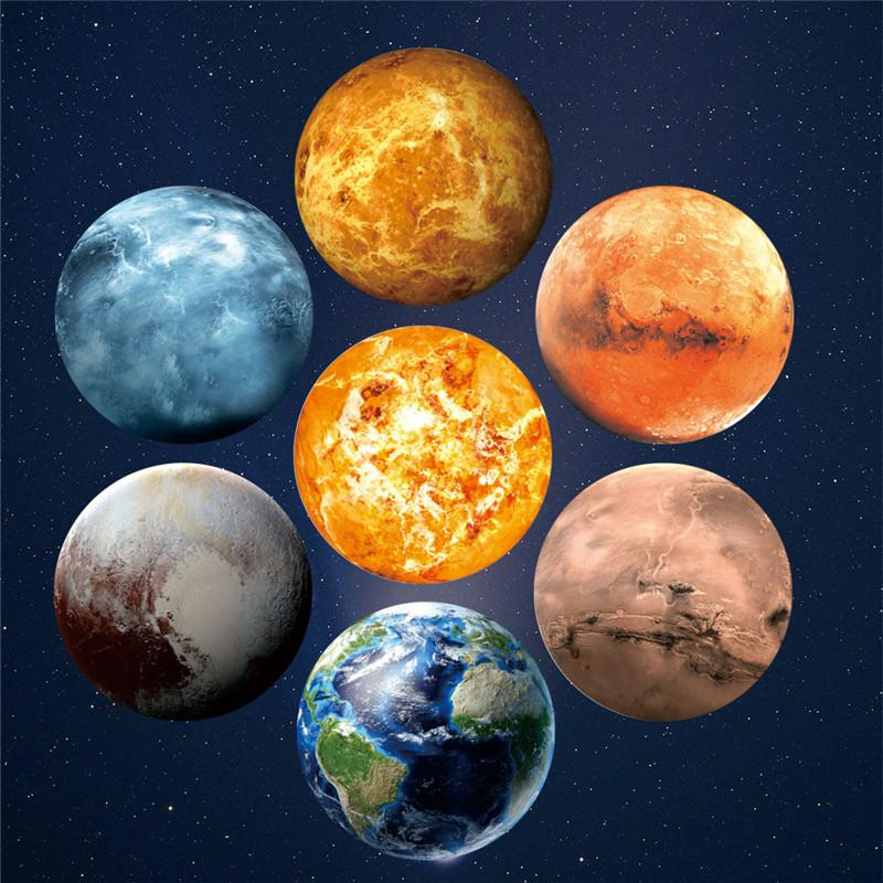 Mars And Venus In The Bedroom: 30cm 3D Planet Glow Wall Stickers Decal Baby Kids Bedroom