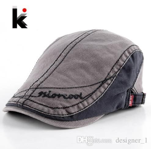 237843c34b4 2019 Men S Cotton Berets Caps For Men Newsboy Cap Peaked Hat Flat Cap  Boinas Hats For Men Retro Beret Visors Boina From Designer 1