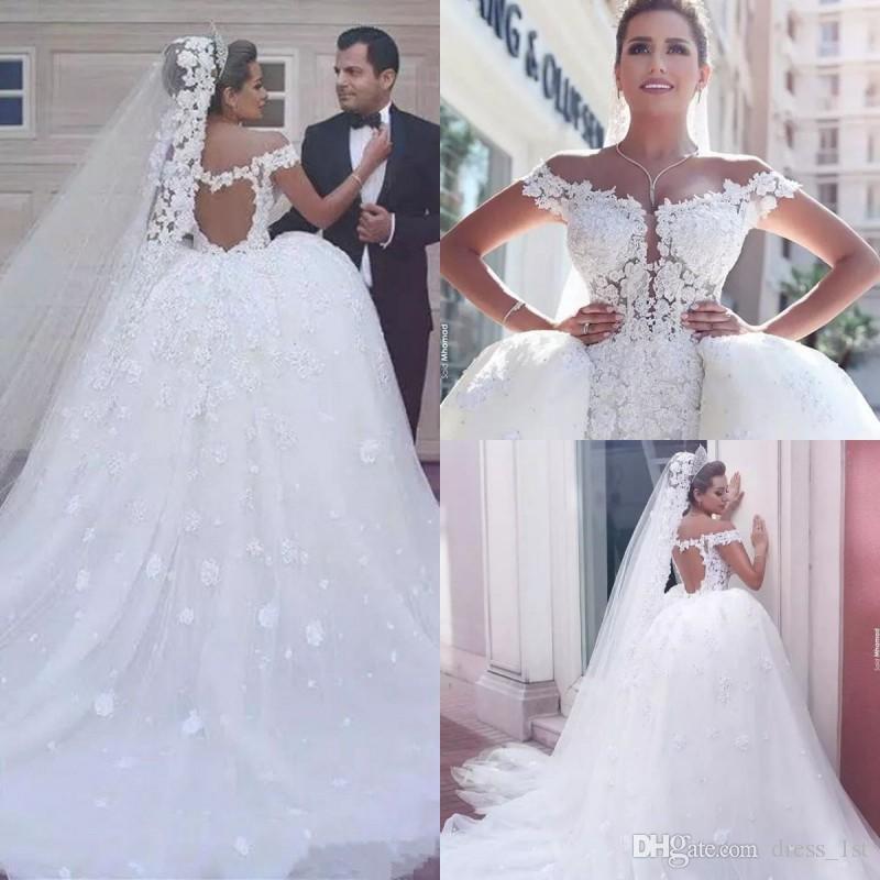 Luxury 2018 Mermaid Wedding Dresses Detachable Skirt Sexy