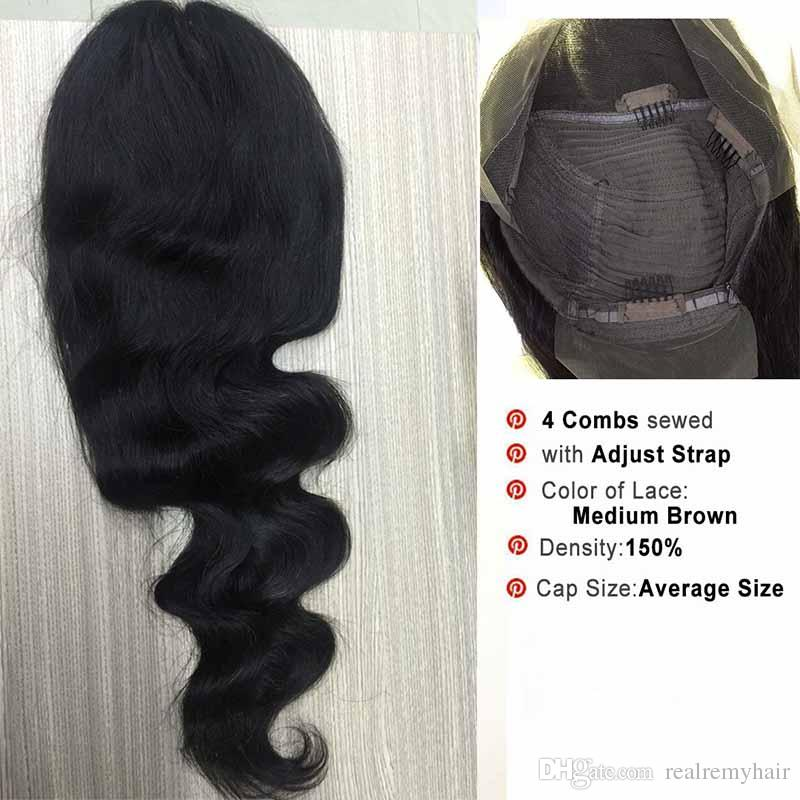 150% Density Brazilian Body Wave Lace Front Human Hair Wigs For Black Women Cheap Pre Plucked Lace Front Wigs With Baby Hair