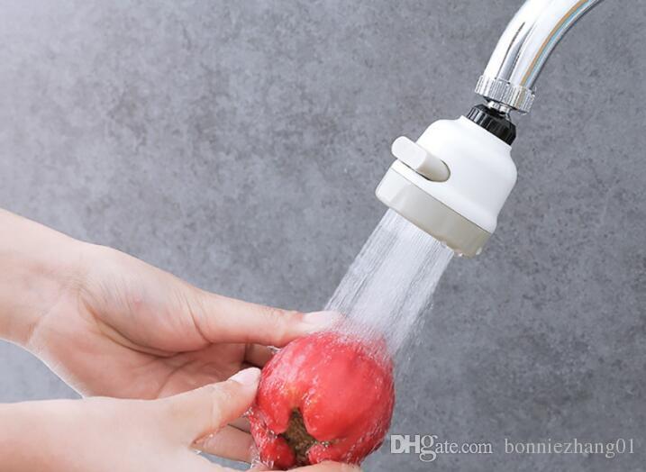 360 درجة تدوير رأس الماء الفوار قطب 3 التروس توفير المياه صنبور مهوية فوهة الصنبور محول جهاز 5 قطع