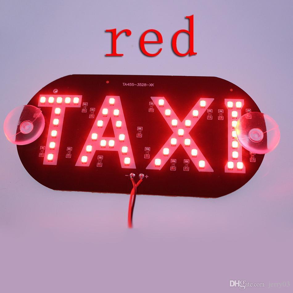 Grosshandel 1 Teile Los Taxi Led Auto Windschutzscheibe Kabine