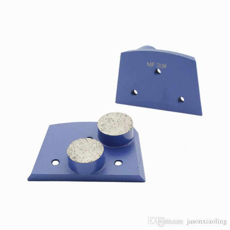 KD-B30 Lavina Diamond Grinding Shoes Diamond Grinding Disc with Two Round Segments for Concrete and Terrazzo Floor One Set