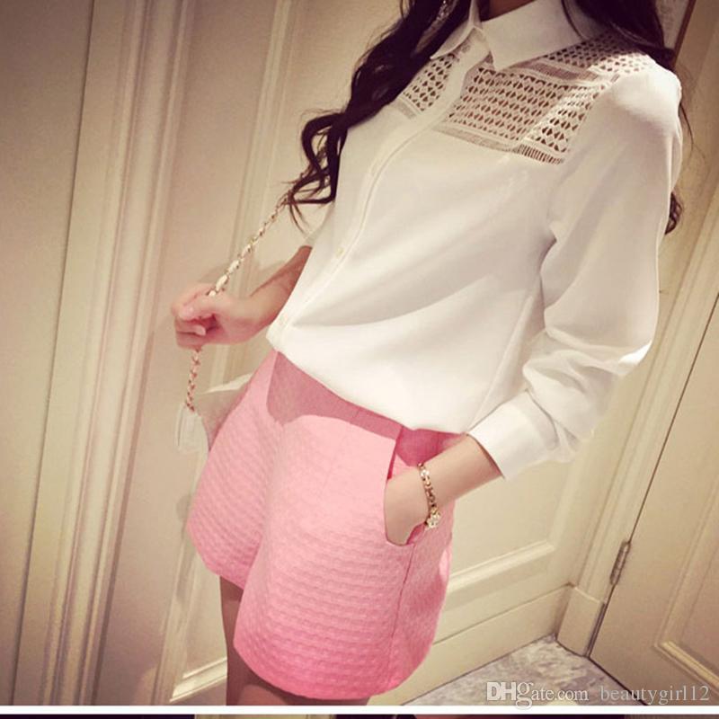 New Fashion high-waisted shorts Korean Casual women Jeans Shorts crochet shorts