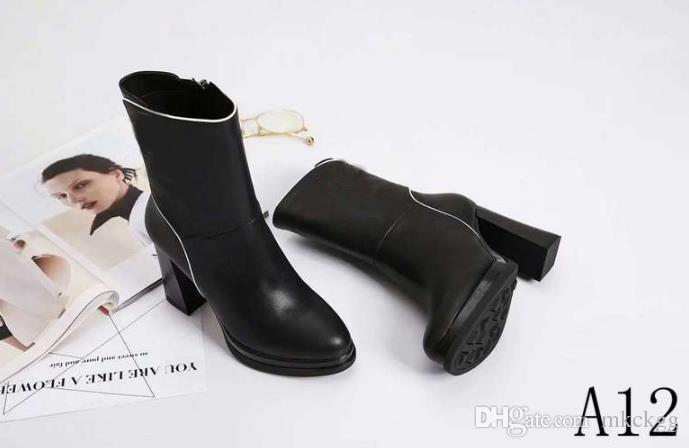 enorme sconto d3340 5da17 Il famoso marchio di design nuovo tubo stivali in pelle da donna stivali  casual Martin stivali all'ingrosso marchio di moda scarpe di alta qualità