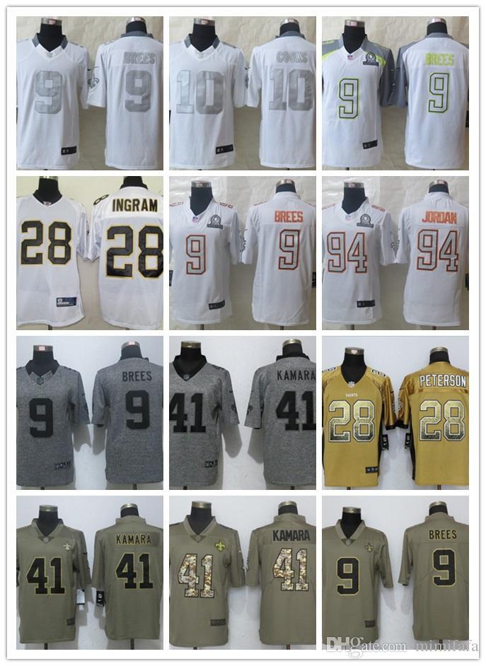 2018 New Orleans Saints 41 Alvin Kamara 9 Drew Brees Jersey Mens 23 Marshon  Lattimore 13 Michael Thomas Vapor Limited Stitched Football Jerseys From ... 48ad13c9f
