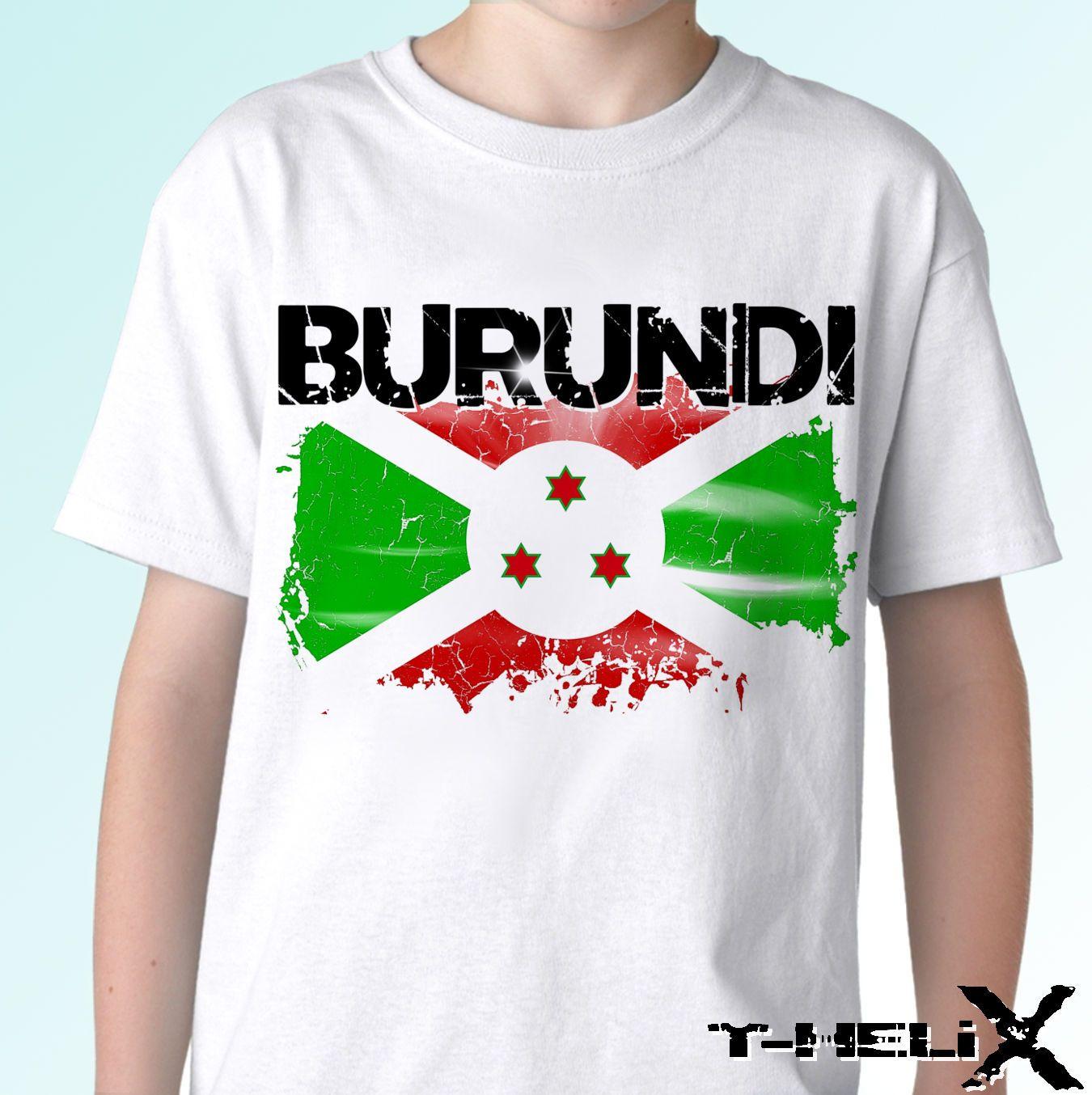 fc185b453 Burundi Flag - White T Shirt Top Africa Design - Mens Womens Cool ...