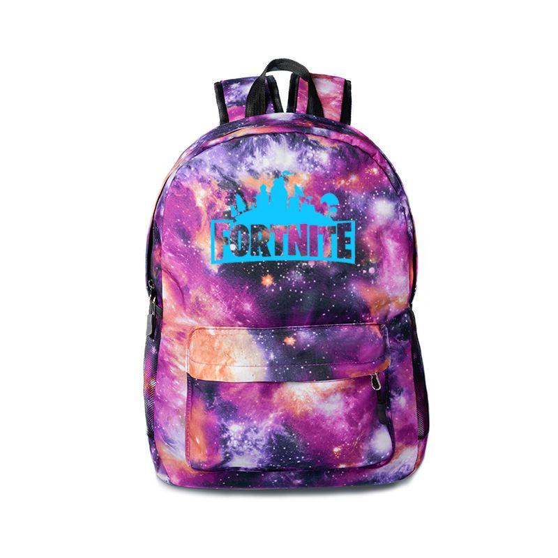 1af190d15dd 5 Styles Fortnite Starry Sky Luminous Backpack Kids Unisex Student ...