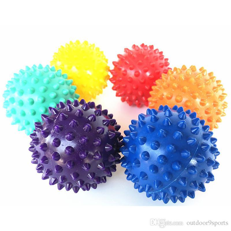 Nuevo PVC Bolas de masaje para yoga Bolas de lacrosse firmes Rodillo de punta Masajeador de pies Pelota de musculación Mano musculoso Agarrar bolas