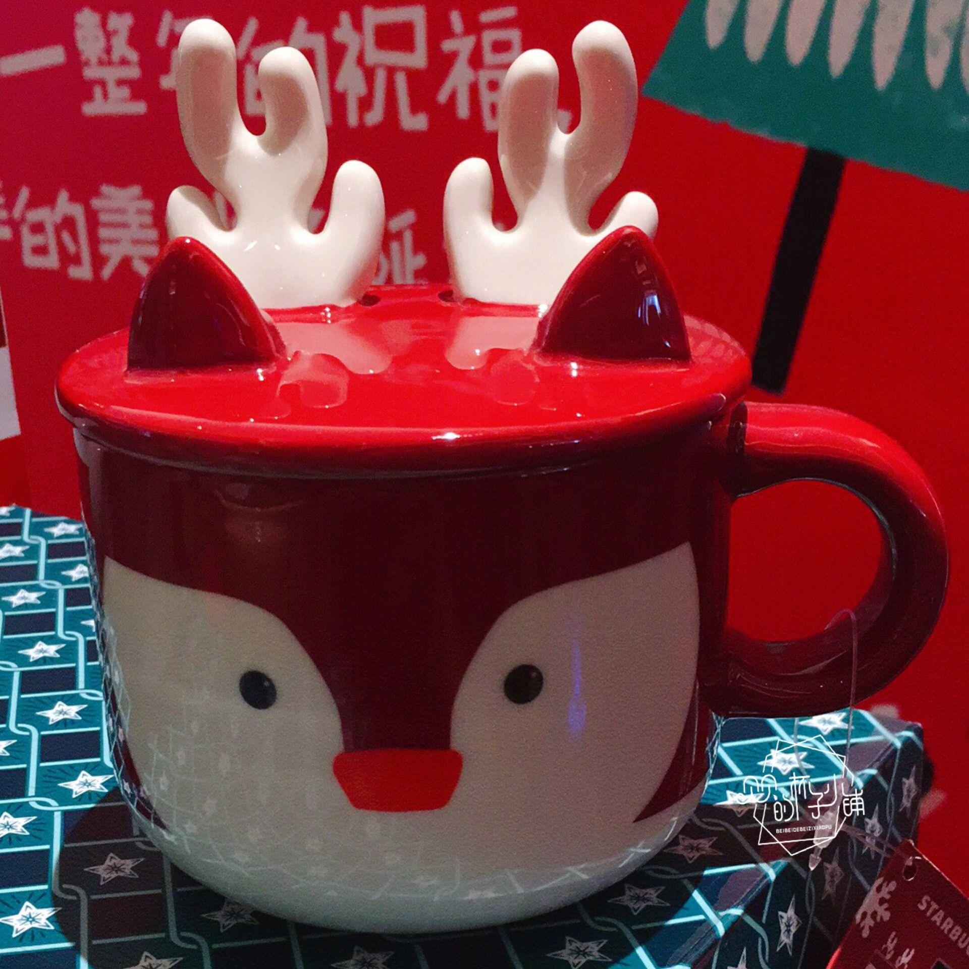 2018 A Mug Starbucks Cup 2018 Christmas Ceramic Husky Elk Snowman ...
