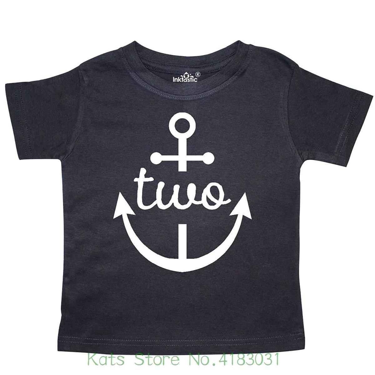 2nd Birthday Outfit Anchor Toddler T Shirt Summer Short Sleeve Shirts Tops S3xl Big Size Cotton Tees Tee Funny Sites From Liguo0021