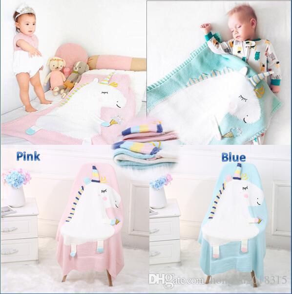 Acheter Tricot Couverture Nouveau Ne Bebe Enfants Mignon Licorne