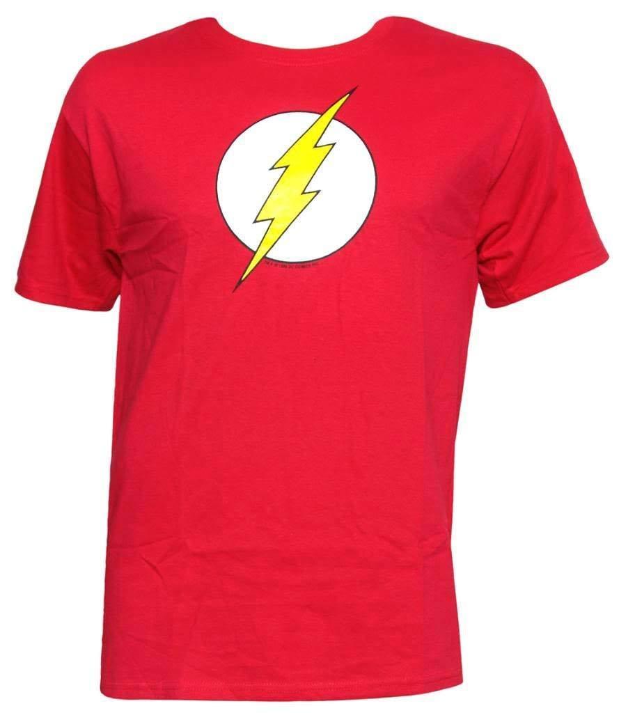422119abea2 Compre Camiseta Roja DC Comics Flash Logo Para Hombre A $11.92 Del  Xsy14tshirt   DHgate.Com