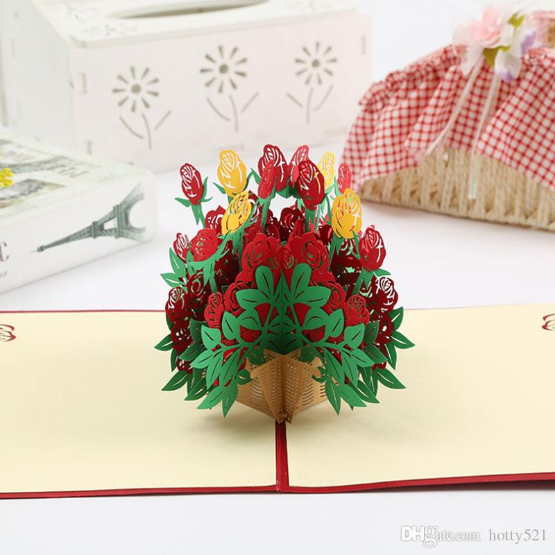 3d flower basket pop up card kirigami origami foldable greeting 3d flower basket pop up card kirigami origami foldable greeting cards for wedding invitations birthday cards greetings birthday cards online from hotty521 mightylinksfo