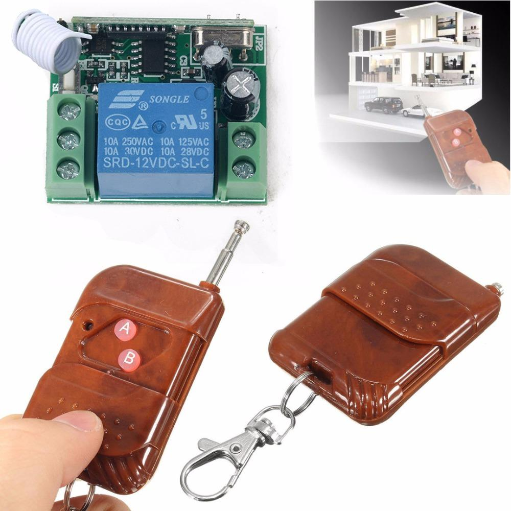 Universal 433MHZ Wireless Remote Controller 1 Channel Wireless Relay Switch Receiver Transmitter Key for Electric Garage Door