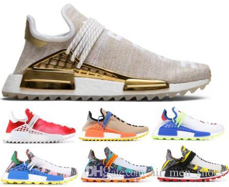 c6c329224b45f New Human Race Pharrell Williams Hu Running Shoes Sneakers Men Women Red  Trail Solar Pack Creme X Pw Nerd Sports Trainer Fashion Shoe Running  Clothes Sports ...