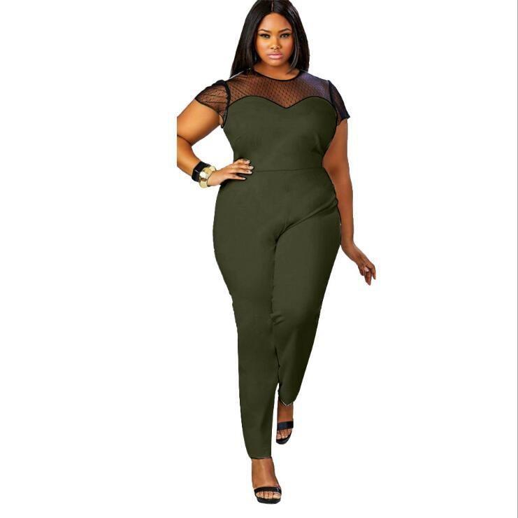 Wholesale 3XL 4XL Plus Size Sexy Bodycon Jumpsuits Clothing Women ... 6dd5dbd83ed6