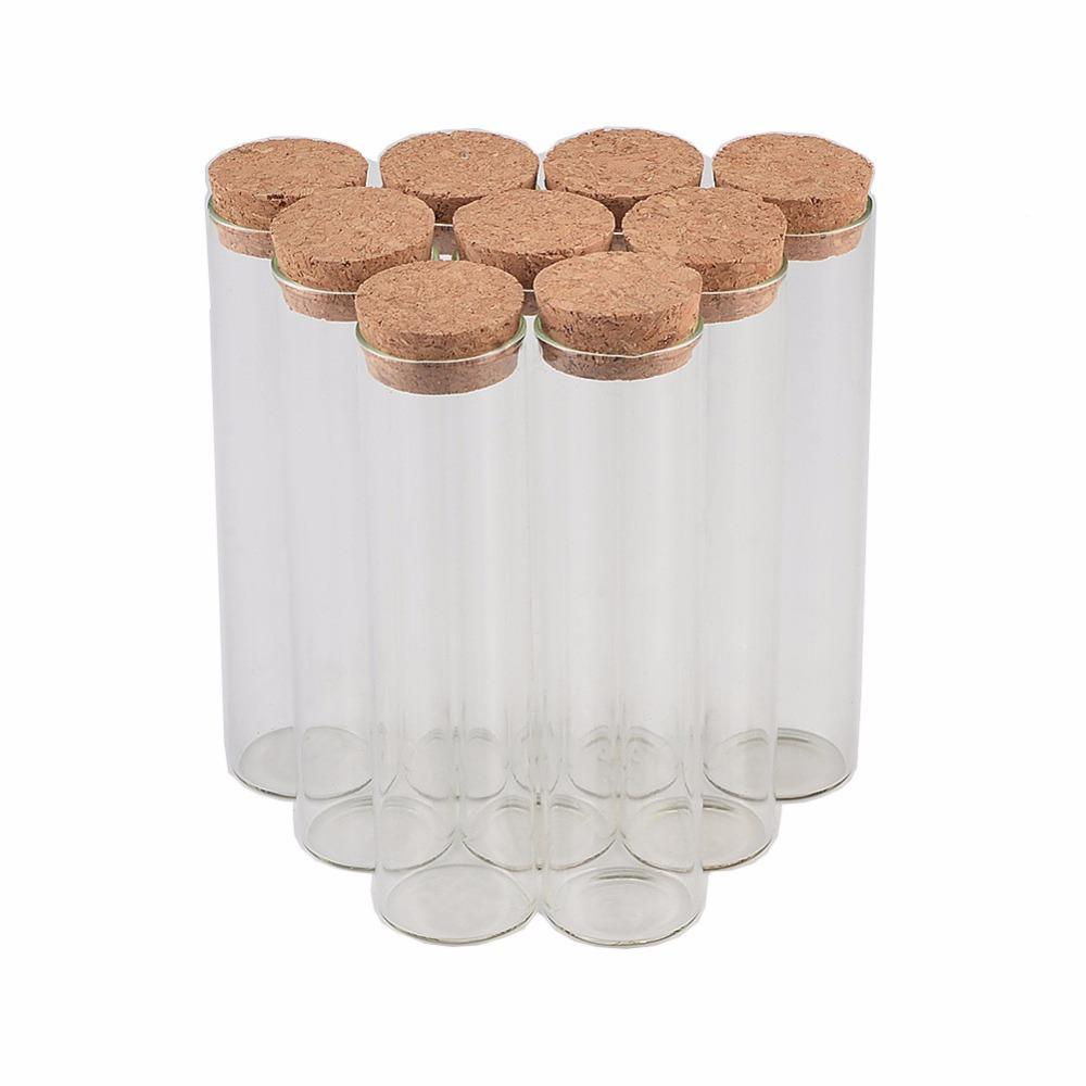 2018 30*100mm 50ml Tiny Small Empty Test Tube Cork Bottles Vials For ...