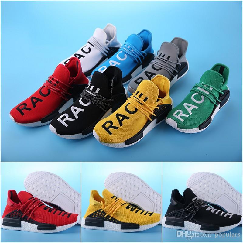 e458d68e065 Compre Com Caixa De 2018 Raça Humana NMD Pharrell Williams X Moda Esportes  Tênis De Corrida Barato Melhor Mens Sapatos De Treinamento De Inicialização  ...