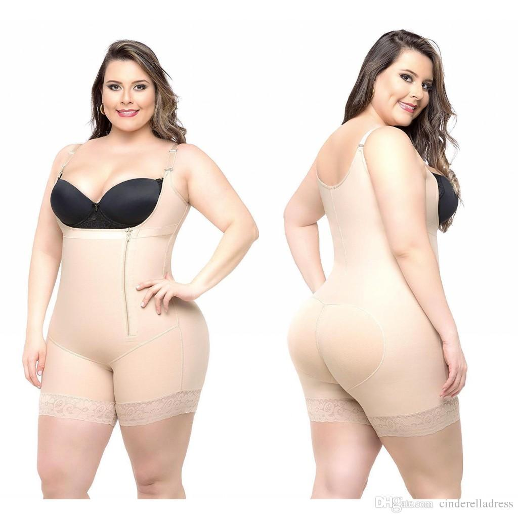 53fadc79870b0 2019 2018 Cheap Plus Size Women Body Shapers Shapewear Underbust Corset Waist  Cincher Trainer Bodysuits Slim Butt Lifter Shapers CPA1122 From ...