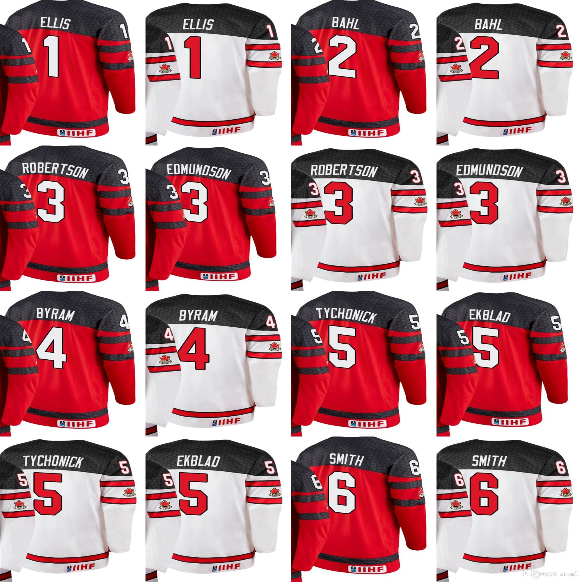 2019 Custom 2018 Team Colten Ellis Bahl Robertson Edmundson Byram Tychonick  Ekblad 6 Ty Smith IIHF World Championship Hoodie Jerseys Red From Cn Sell d2d6ca60adb