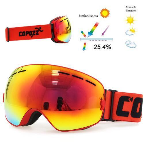 100% Quality Uv400 Ski Goggles Double Layers Anti-fog Big Ski Mask Glasses Skiing Unisex Snow Snowboard Goggles Glasses 8 Skiing Eyewear