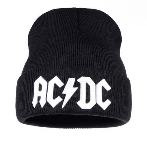 9cf8b9ee323 Men Women Winter Warm Beanie Hat Rock ACDC AC DC Rock Band Warm Winter Soft  Knitted Beanies Hat Cap For Adult Men Women