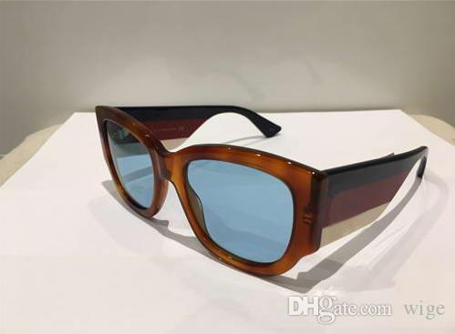 683e305b86 Compre 0276S Gafas De Sol Cuadradas Blonde Havana Multicolor / Light Blue  Lens Sonnenbrille 2018 Gafas De Sol De Diseñador Luxury Brand Nuevo Con  Caja A ...