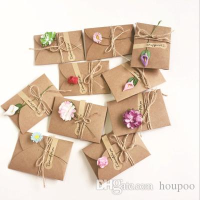 Bulk 10 Styles Dry Flower Envelope For Greeting Card Invitation Wedding Decoration Cards Craft Birthday Party Christmas Decor Xmas Gift Animated