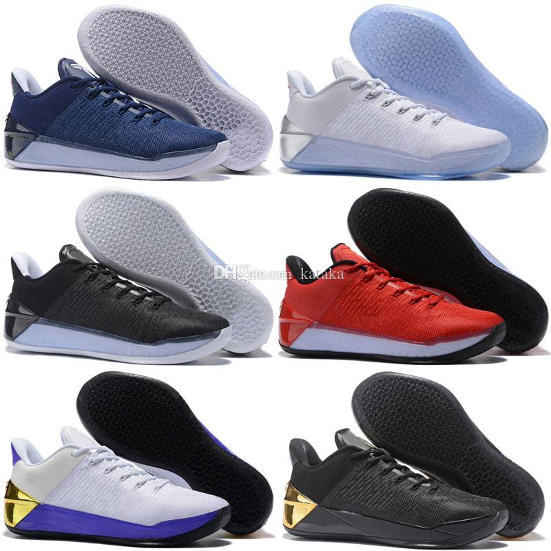 innovative design 53b09 a4b0b 2018 New Kobe 12 XII Ad Black Gold Homem Men Basketball Shoes Purple Red  White Gray Blue Kobe 12s Elite Low Sport Sneakers Cheap Shoes 4e Basketball  Shoes ...
