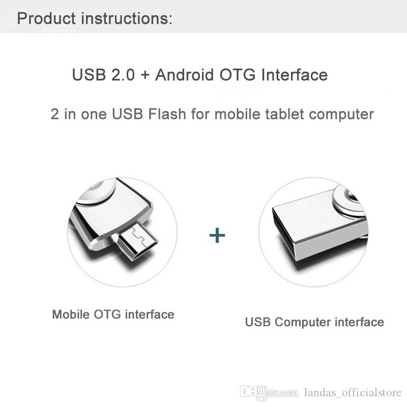 Mini OTG USB With Type-C Flash Drive 32GB For Android Smartphone Metal 16GB USB Stick Pen Drive Flash Memory For Computer
