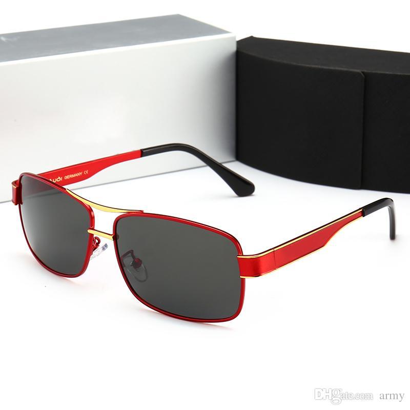 88ba53b5e6 Compre Gafas De Sol De Conducción Caliente 553 Diseño De La Marca Uv400 Lente  Gafas De Sol De Lujo Retro Gafas De Deporte Gafas Con Marcos De Metal Gafas  ...