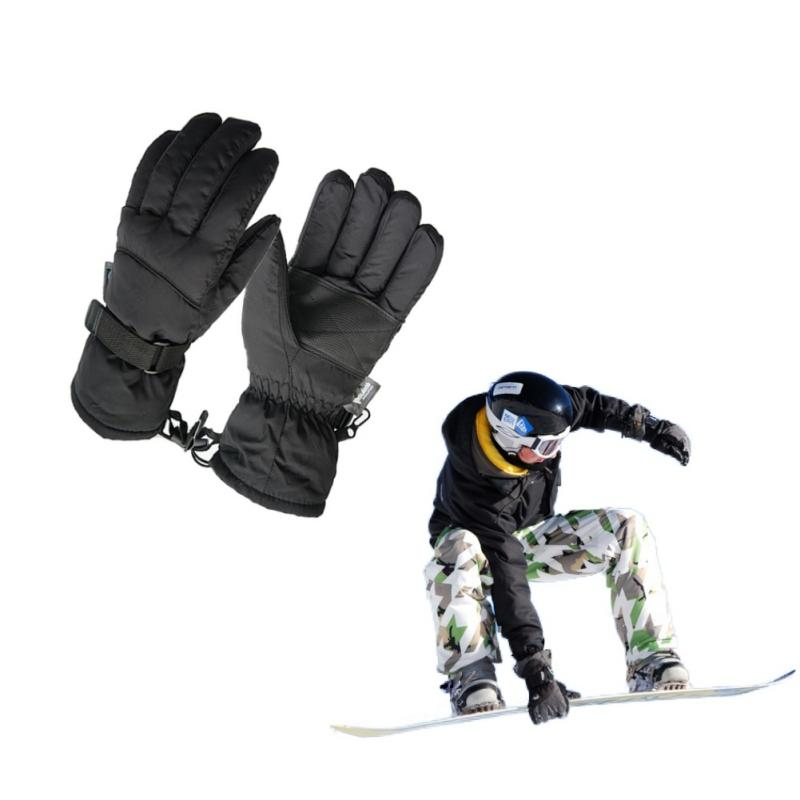 b39dcd20bcdd 2017 Man Winter Ski Sport Waterproof Gloves -30 Degree Warm Snowboard  Skiing Gloves Riding Motorcycle Black Skiing Gloves Cheap Skiing Gloves  2017 Man ...