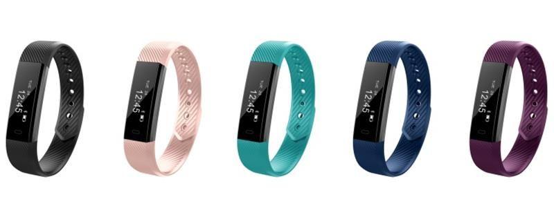 Hohe Qualität ID115 F0 Smart Armbänder Fitness Tracker Schrittzähler Aktivität Monitor Band Wecker Vibration Armband für iphone Android