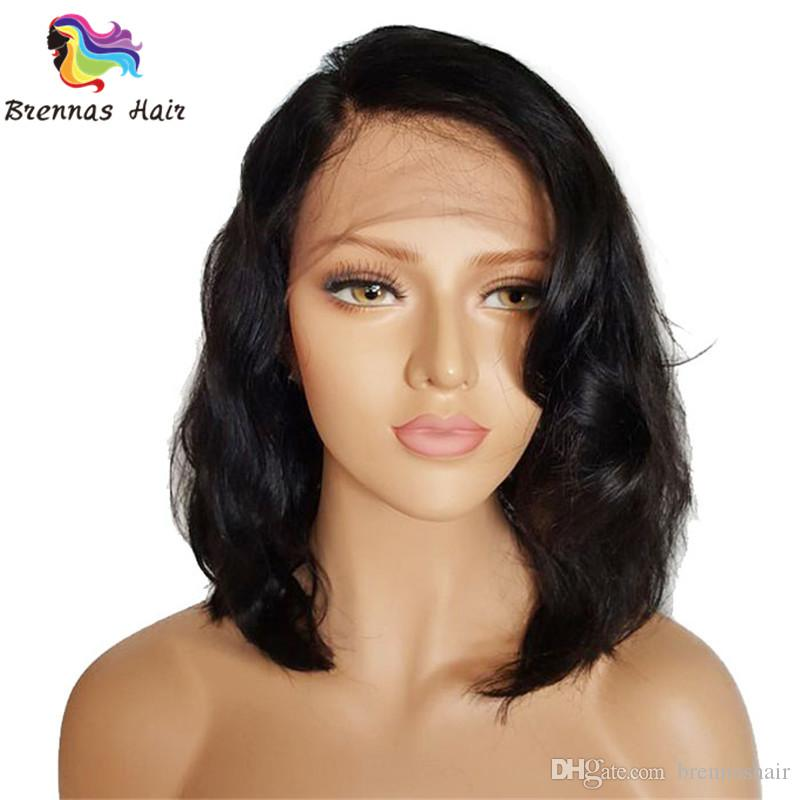Bleached Knots glueless customized front lace wigs for back women 150% density short curly wigs for full head big loose wave short hair