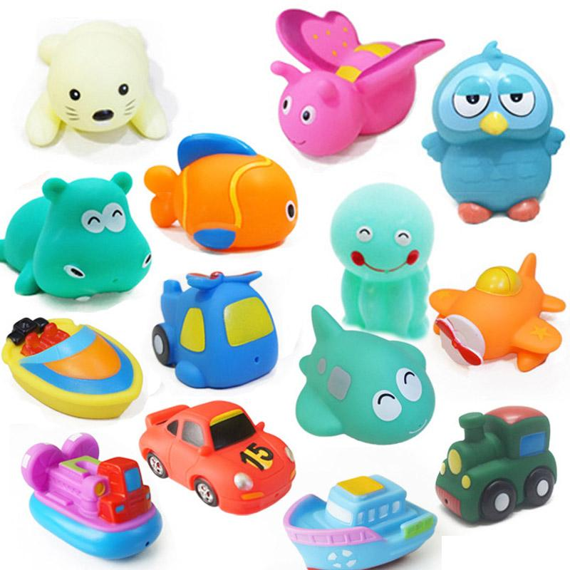 2018 Baby Bath Toys Soft Rubber Car Boat Kids Water Toys Cartoon ...