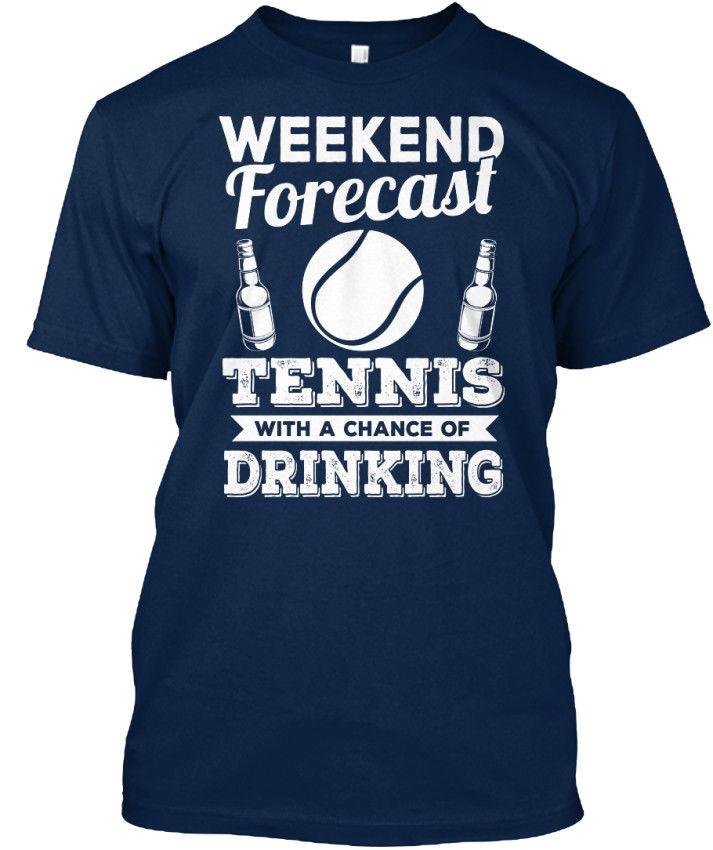 Tennis - Weekend Forecast With A Chance Of Standard Unisex T-Shirt (S-5XL)